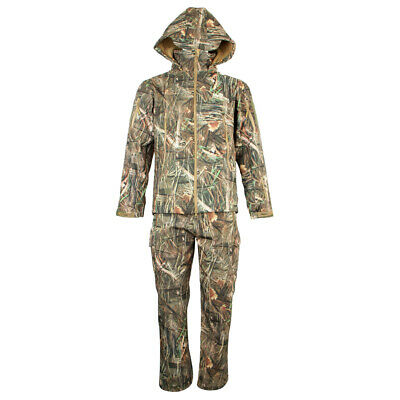 62563432a1590 Unisex Bionic Camouflage Hunting Clothes Leaf Waterproof Jacket + Pants Suit