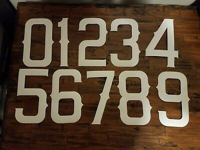 "STAHLS HEAT TRANSFER 10"" VINYL NUMBERS ANGELS FONT (LOT) See description."