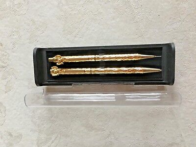 Vintage ANGEL Pen and Pencil Set GOLD FILLED with Case