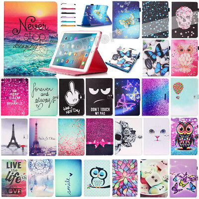 """AU Smart Magnetic Flip Card Slot Stand Case Cover For iPad 9.7""""2017/Air 1 2/Mini"""