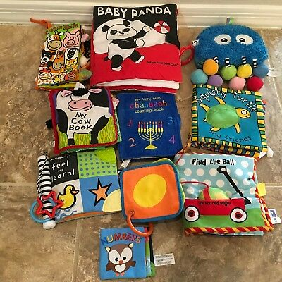Lot of 10 baby Cloth books