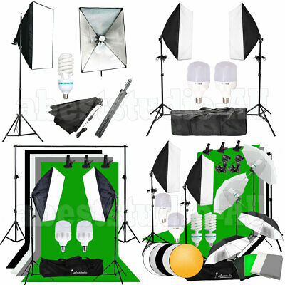 Photography Studio Lighting Backdrops Softbox Continuous Lighting Stand Kit