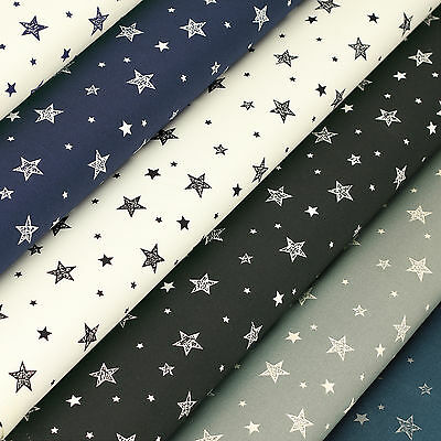 Cotton Print Fabric Fat Quarter Star & Sky Shirt Dress Quilting Patchwork VK115