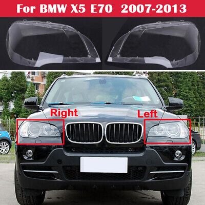 2x Left+Right Lamp Cover Headlight Cover Lampshade Lens for BMW X5 E70 2008-2013