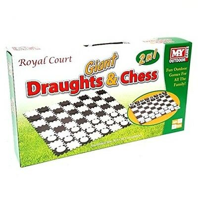 2 in 1 Giant Draughts and Chess Set Game. M.Y. Shipping is Free