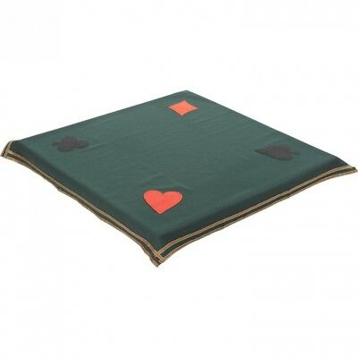 Bridge and Poker Tablecloth to Cover Card and Gaming Table 90cm Square Green