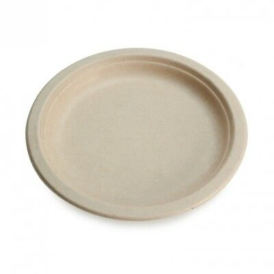 Earth's Natural Alternative 25cm Round Plate, Natural, 500 Ct. Huge Saving