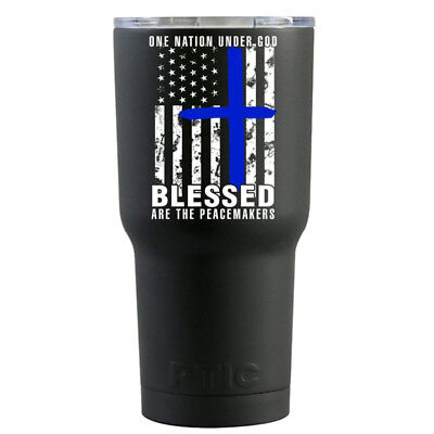 (590ml, Police Peace Makers - Black) - RTIC Police Blessed are the Peace