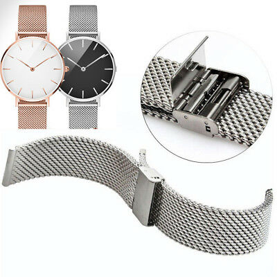 Mesh Stainless Steel Milanese Watch Band Link Bracelet Wrist Strap Clasp Catch