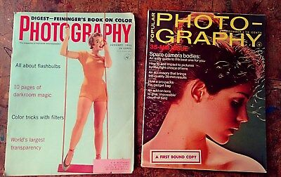 2 Vintage 1955/1970 Photography Magazines- Great Classic Advertising Throughout