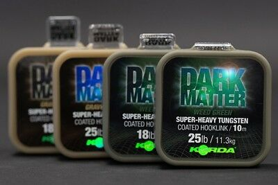 Korda Dark Matter Tungsten Coated Braid (In Stock Now)