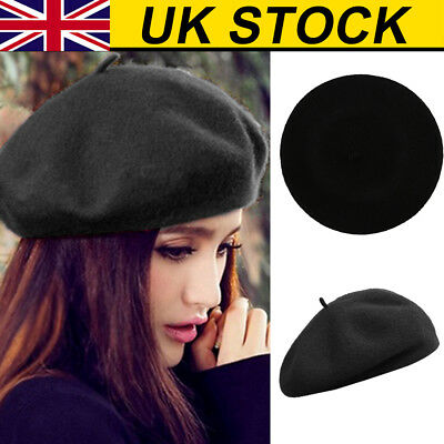 aebca4cd34c PLAIN BERET HAT Wool Autumn Women