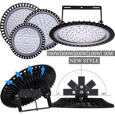 LED High Bay Lights 50W 100W 200W 300W 500W Factory Warehouse Shop Lighting UFO