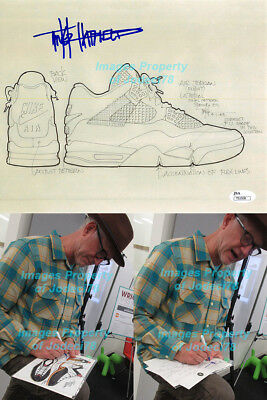 c3d8c0a70d068 TINKER HATFIELD SIGNED Jordan 4 IV 8x10 Design Sketch Photo PROOF JSA COA