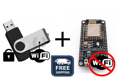 NodeMCU Deauther Hacking Tool + USB WiFi/Web Browser Password Extraction Device