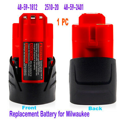 For Milwaukee 48-11-2401 M12 Li-Ion Red Extended Replace Battery 12V Lithium-ion