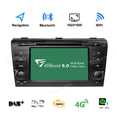 "Android 8.0 Octa Core 7"" Car Stereo Radio Navigation for Mazda 3 GPS Head unit B"