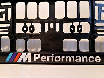 2 x BMW M PERFORMANCENumber Plate Surrounds Holder Frame New For Cars