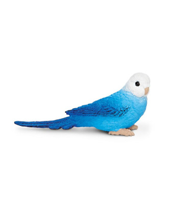 Safari Ltd. Blue Parakeet Budgie Bird Figure Wings of the World Mini Figurine