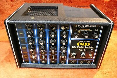 Vintage Evans EM-60 Tape Echo Mixer Amp Delay Effect From Japan U236 181026