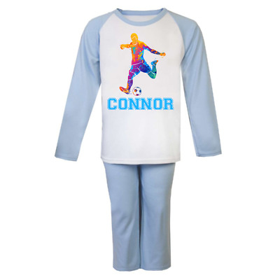 Personalised Football Pyjamas Boys Pjs Girls Custom Pyjamas Christmas Gifts