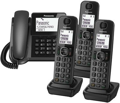 Panasonic Phone Cordless Corded Telephone Answer Machine Digital DECT Home Quad