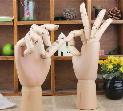 1 pair 25 cm Cute Joint Wooden Hand, New Style Jointed Mannequin Hand
