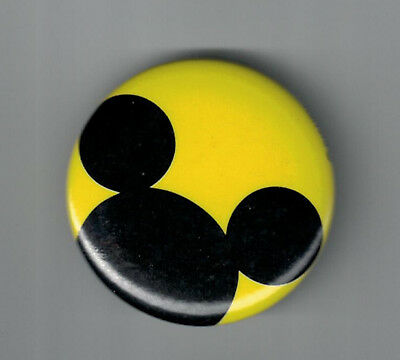 "Vintage 1 3 /4 "" Mickey Mouse Ears Pinback Button"