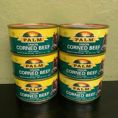 6 PALM BRAND ONION CORNED BEEF WITH JUICES 11.5oz
