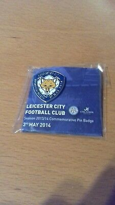 Leicester City FC pin badge 2013/14 Football Memorabilia Celebrating Promotion