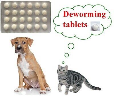 24 tabs as Drontal  Dog and Cat Wormer Dewormer Roundworm Tapeworm