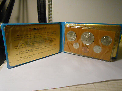 1977 Singapore Lion Mint Uncirculated Set - 6 Coins UNC