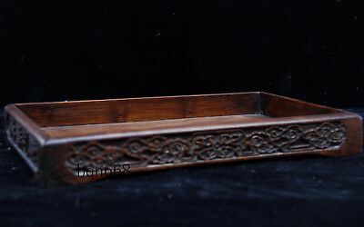 China old antique huanghuali wood ruyi Banquet food wine tea cup Tray