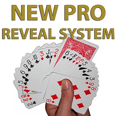 Invisible Deck New PRO VERSION! RED Bicycle Playing Cards Easy Card Magic Tricks