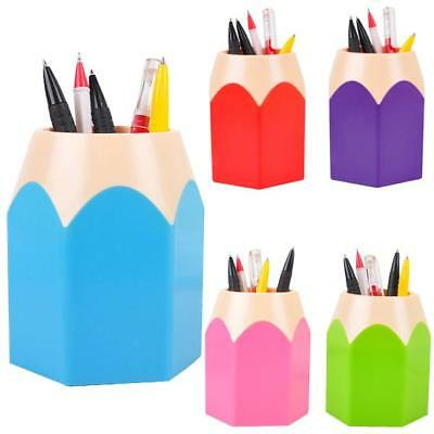 Mini Pencil Pen Pot Holder Storage Makeup Vase Stationery Cup Brush Box Gifts AU