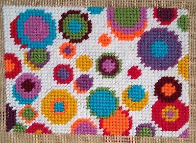 Mini Modern Tapestry: Unique Handmade 'Circles' Sampler