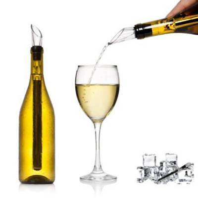Wine Pourer with Chill Rod Bottle Cooling Ice Cool Freezer Stick xmas gift party