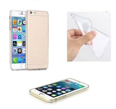 COQUE TRANSPARENT ULTRA MINCE TPU DOUCE FLEXIBLE POUR IPHONE 6 6s + FILM