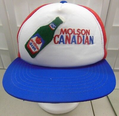 Vintage Molson Canadian Truckers hat embroidered M/L Snapback