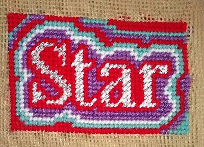 Mini Modern Tapestry: Unique Handmade 'Star' Sampler