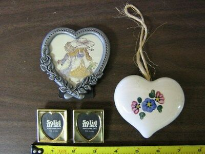 Small Pewter Heart Shaped Angel And Rose Ring Box 599 Picclick