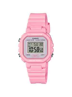 Casio Illuminator Women's Digital Pink Resin Band 30mm Watch LA20WH-4A1