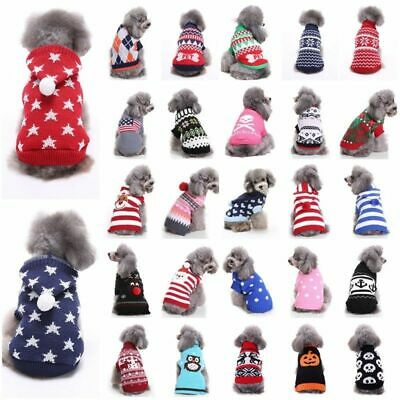 Pet Dog Cat Knitted Jumper Knitwear Coat Puppy Chihuahua Warm Sweater Clothes