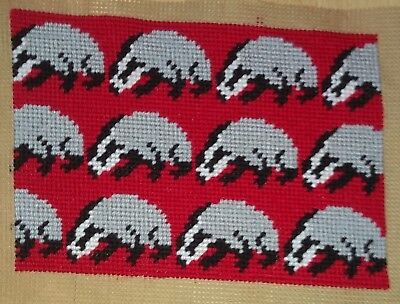 Modern Tapestry: Unique Handmade 'Badgers' Sampler