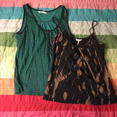 3eac81e939051 Lot Of 2 Old Navy Womens Tank Top Pattern Print Size M Medium Green Black  A703