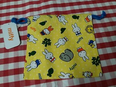 MiffyY Cotton Yellow Multiuse Drawstring Pouch