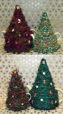 🎄 Hand knitted Christmas Tree Egg & Tea Cosy in New Sizes & Styles Added  🎄