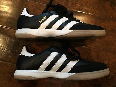 ADIDAS Samba Millennium Men s Indoor Soccer Shoes Black Leather Size 10 US 7cd6ce187