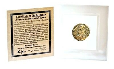 Roman Bronze Coin Honoring 1 of 4 Emperors Of The Constantine Dynasty,Mini Album