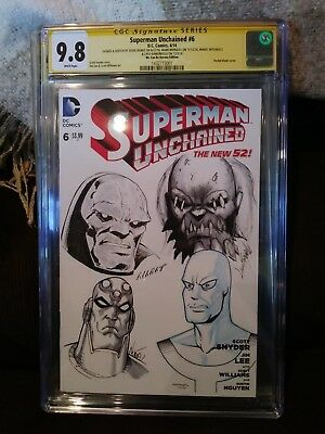 Superman Unchained 6 Blank Original Art Jam Sketch CGC 9.8 We Can Be Heroes